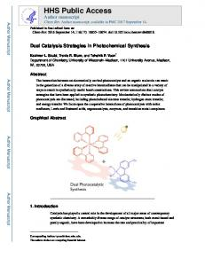Dual Catalysis Strategies in Photochemical Synthesis.