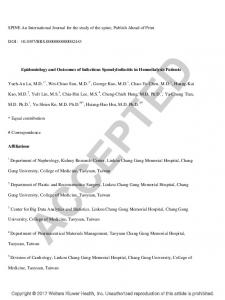 Epidemiology and Outcomes of Infectious Spondylodiscitis in Hemodialysis Patients.