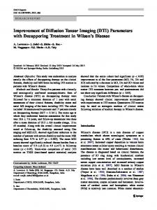 Improvement of Diffusion Tensor Imaging (DTI) Parameters with Decoppering Treatment in Wilson's Disease.